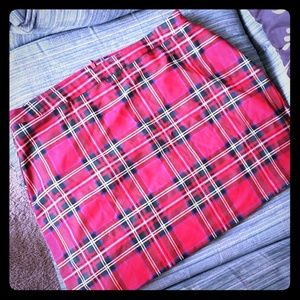 Plaid Mini Skirt US Size 14